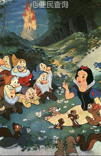 世界上第一部彩色动画片《白雪公主和七个小矮人》问世