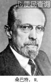 德国社会学家、经济学家桑巴特逝世