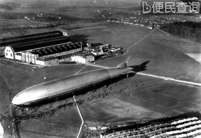 德国人齐柏林设计的人类第一艘飞艇首航成功