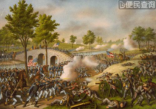 美国南北战争中的安提耶坦战役爆发