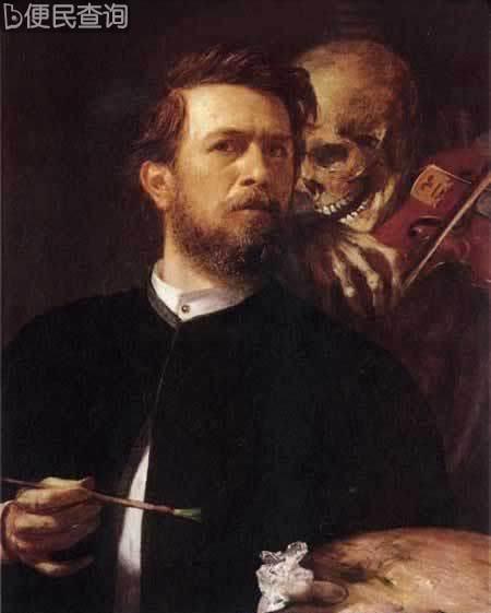 瑞士象征主义画家阿诺德•勃克林逝世